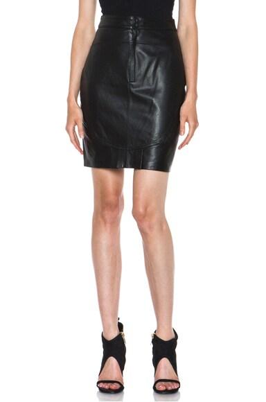 Light Weight Leather Back Flutter Skirt