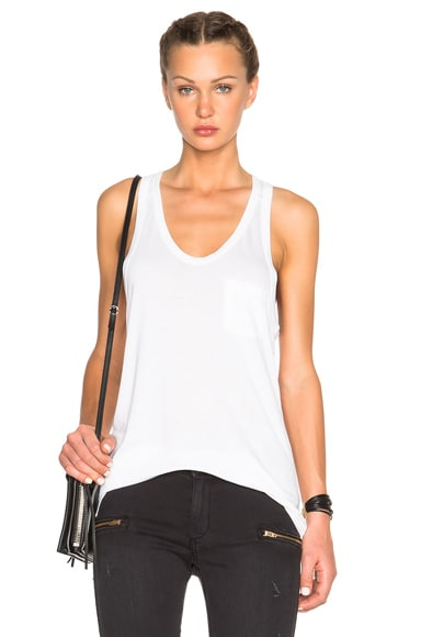 T by Alexander Wang Classic Viscose Tank in White