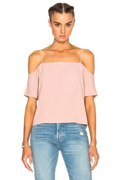 T by Alexander Wang Off Shoulder Top in Blush