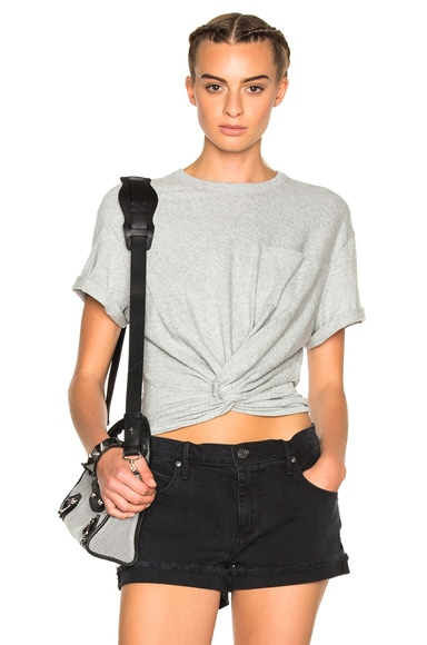Twist Front Short Sleeve Tee