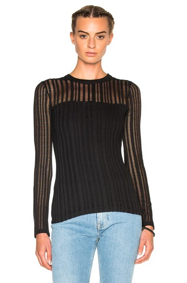 Jacquard Long Sleeve Top