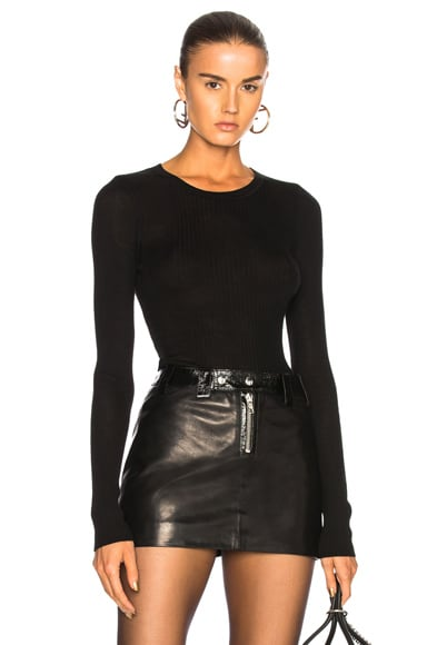 Wash & Go Long Sleeve Rib Top
