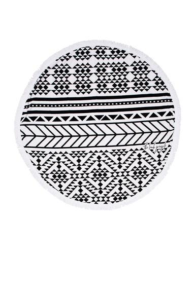 The Beach People Aztec Towel in Black & White