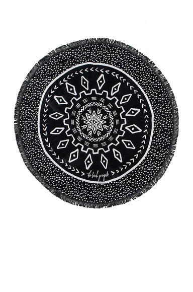 The Beach People Dreamtime Towel in Black