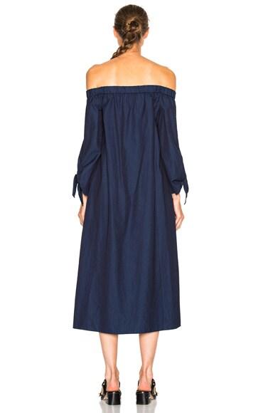 Midi Off Shoulder Dress with Belt