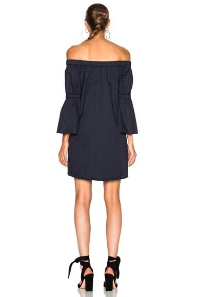 Poplin Lantern Sleeve Dress