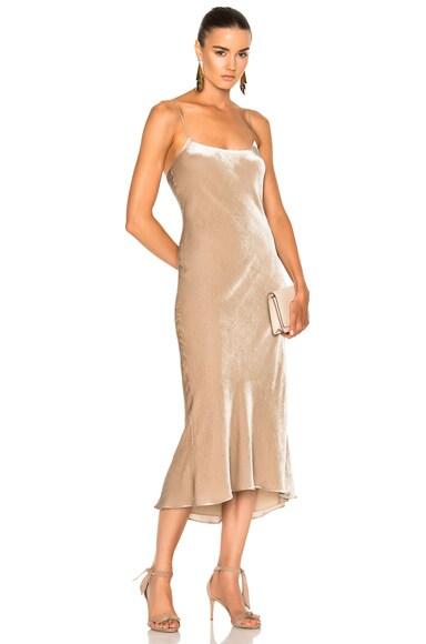 Velvet Bias Dress