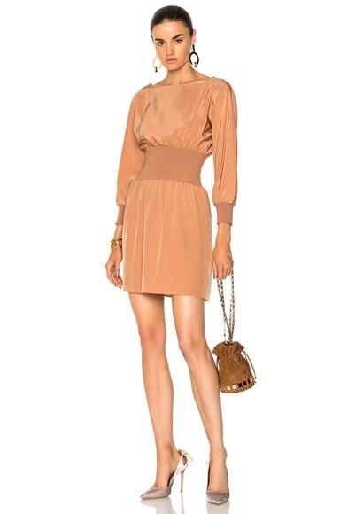 Sculpted Silk Corset Dress