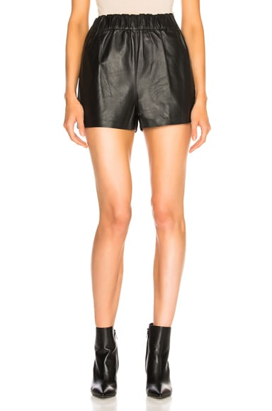 Tissue Leather Pull On Shorts