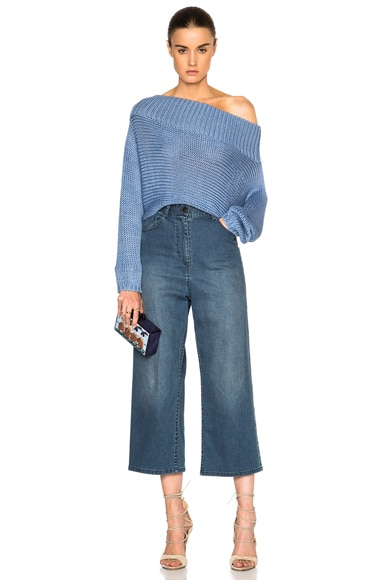 Oversized Cropped Sweater