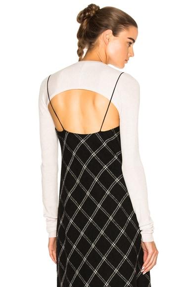 Tibi Ribbed Bolero Sweater in Blush Haze