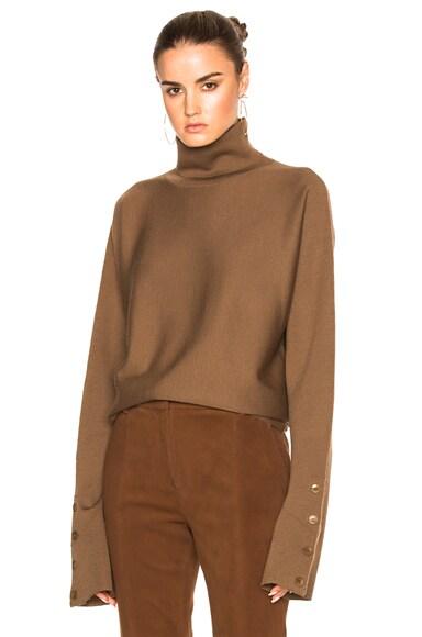 Tibi Turtleneck Sweater in Umber Melange