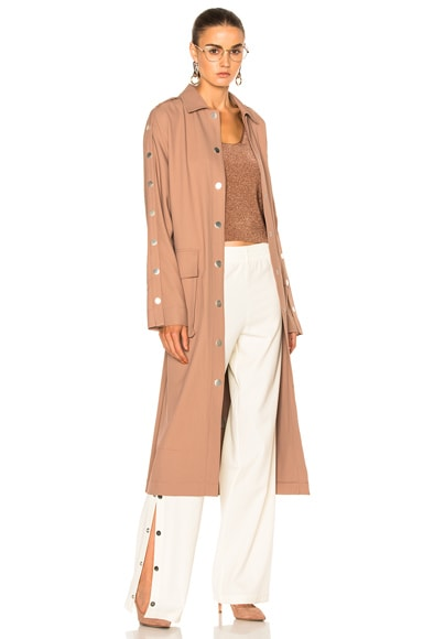 Tibi Trench Coat in Hazelnut