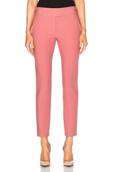 Tibi Skinny Pants in Terracotta