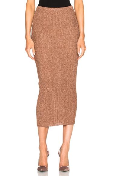 Tibi Shift Skirt in Rose Gold