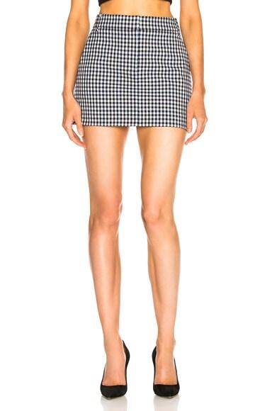 Gingham Suiting Mini Trouser Skirt