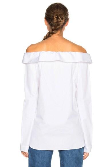 Notched Off Shoulder Shirt
