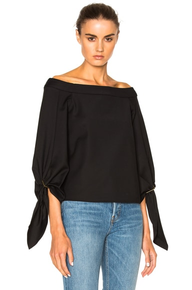 Off Shoulder Sculpted Top