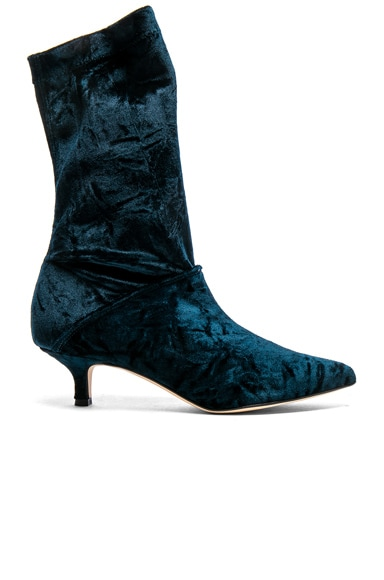 Harper Velvet Boots Tibi