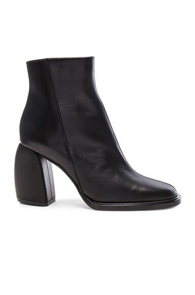 Tibi Leather Rachel Booties in Black