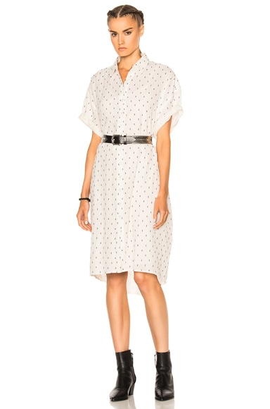 The Great Camper Shirt Dress in Cream & Navy Dot