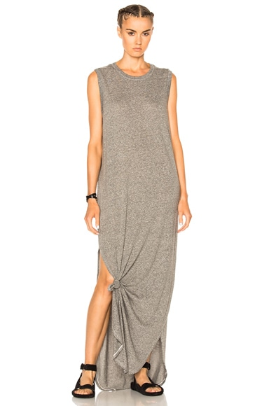 The Great Sleeveless Knotted Dress in Heather Grey