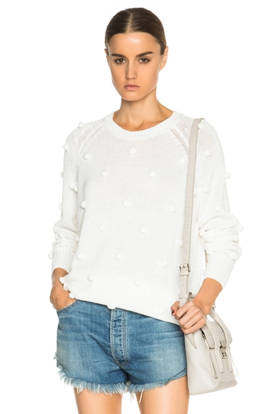 The Great Bobbie Crew Neck Sweater in White