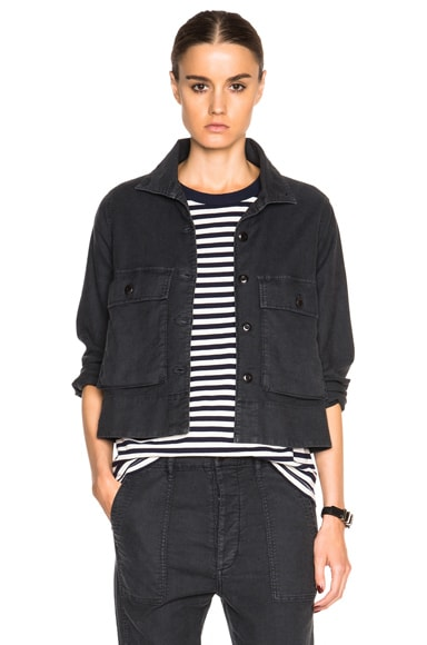 The Great Swingy Army Jacket in Washed Black
