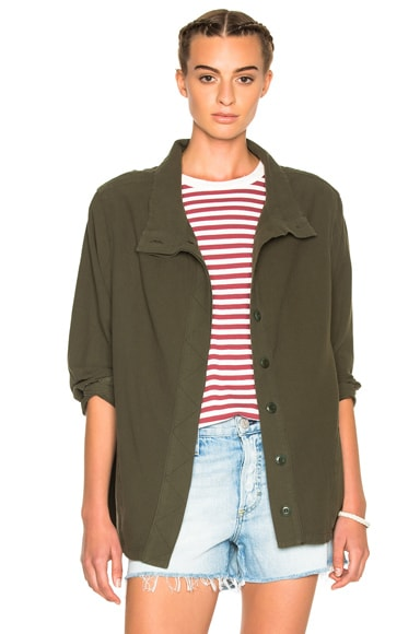 The Great Slouchy Army Jacket in Dark Olive