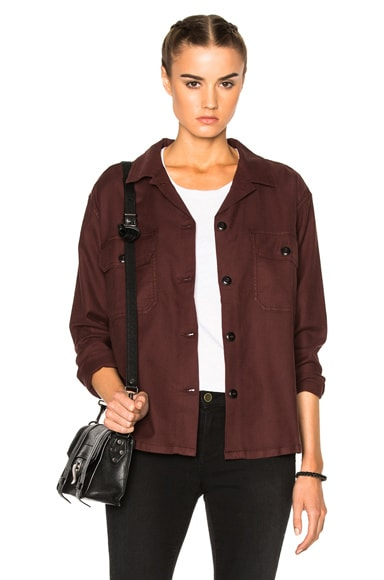 The Great Army Shirt Jacket in Wine
