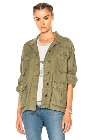 The Great Commander Jacket in Faded Army