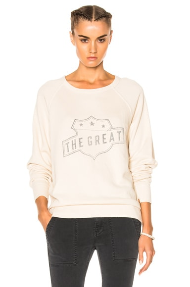 The Great College Badge Sweatshirt in Vanilla