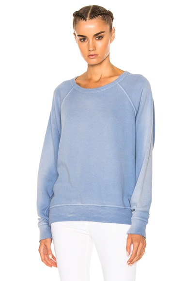 The Great Sun Faded College Sweatshirt in Pale Blue