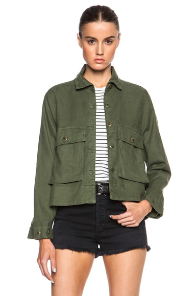 The Great Swingy Army Jacket in Beat Up Army