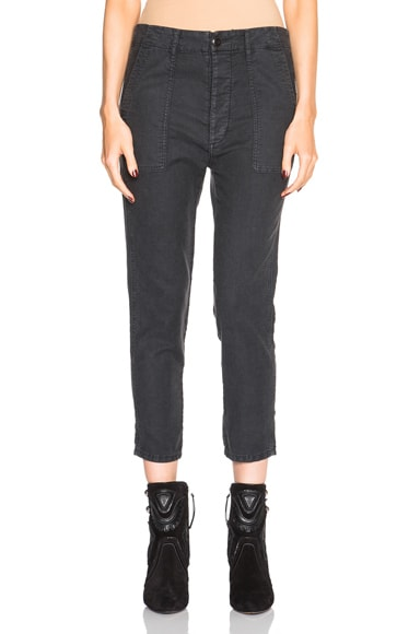 The Great Slouch Army Pants in Washed Black