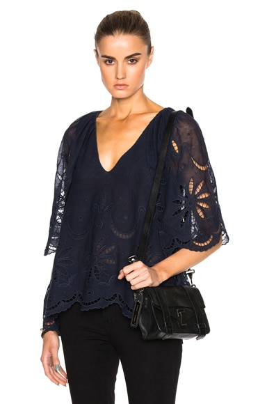 Caped Flutter Top