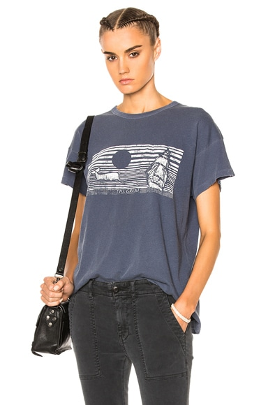 The Great Boxy Whale Graphic Tee in Navy & White