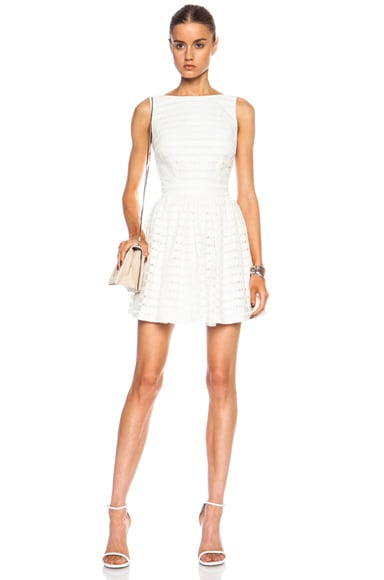 Thakoon Open Back Poly-Blend Dress in Ivory