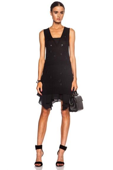 Thakoon V Front Wool Dress in Black