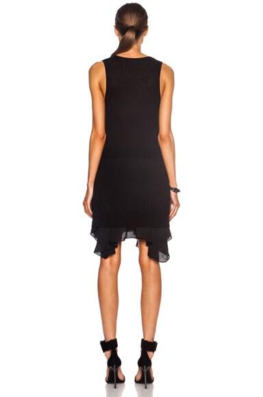 V Front Wool Dress