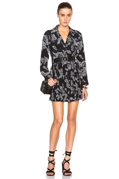 Thakoon Button Front Dress in Black Multi