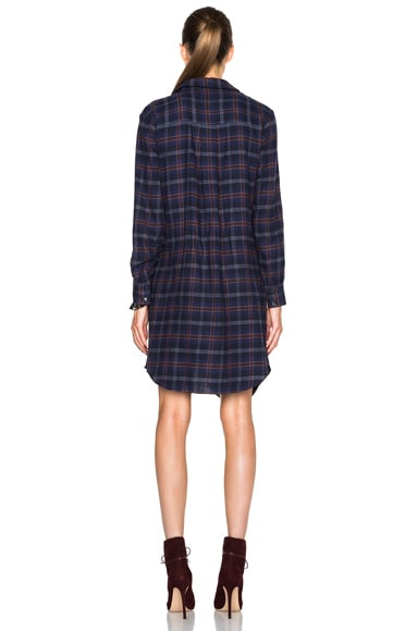 Flannel Side Tie Dress