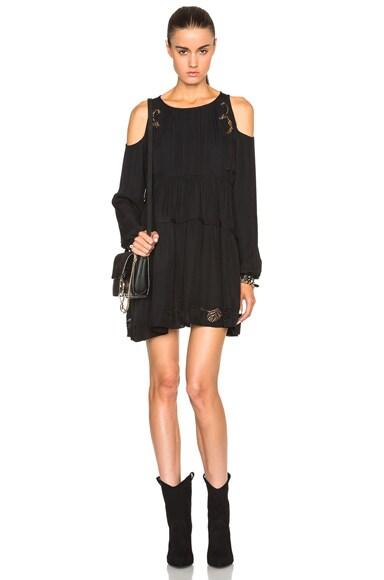 Thakoon Open Shoulder Dress in Black