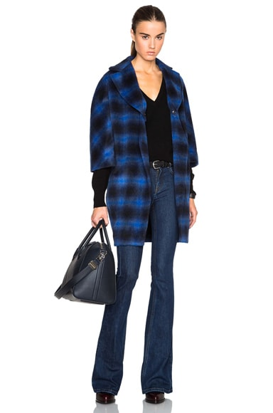 Thakoon Button Front Coat in Blue