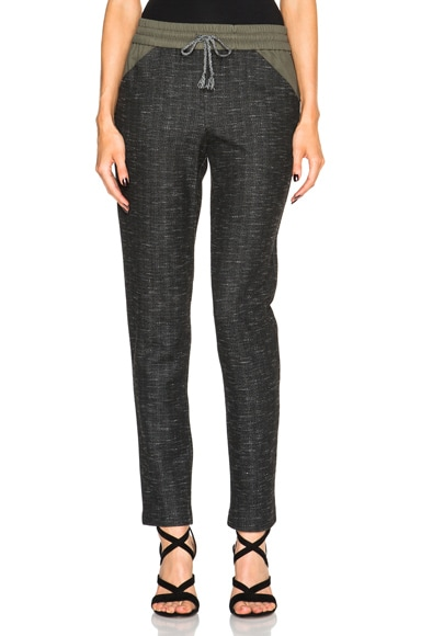 Thakoon Jersey Combo Pant in Charcoal