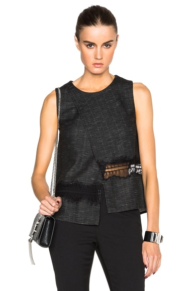 Thakoon Crossover Tank in Charcoal