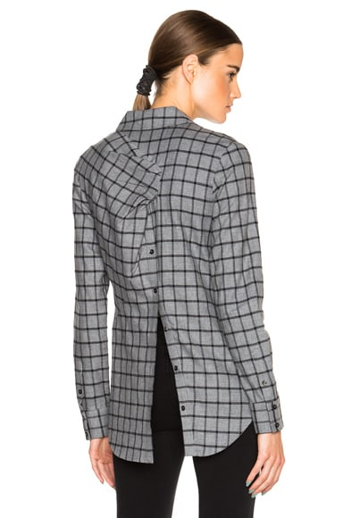 Thakoon Open Back Shirt in Grey