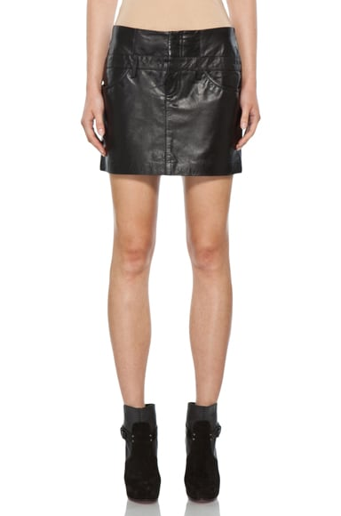 Nibet Safaa Leather Skirt