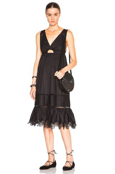Thakoon Crochet Inset Dress in Black