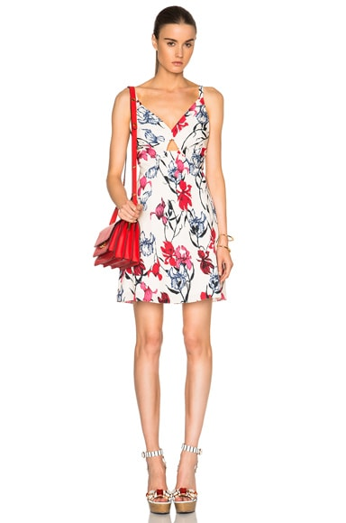 Thakoon Open Front Dress in Pink Multi